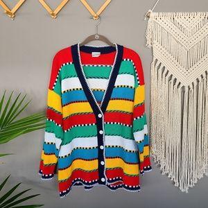 Middlebrook Park | Colorful Stripe Sweater Cardi